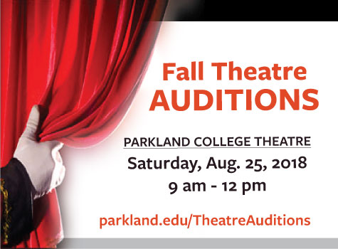 Open Auditions for Parkland Theatre Fall Shows