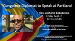 Lecture to Feature Congolese Diplomat