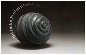 "Chris Berti, Whorl, carved granite, 7"" x 7"" x 7"", 2010"