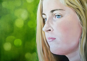 "Kelly White, Anna, oil on canvas, 22"" x 30"", 2013"