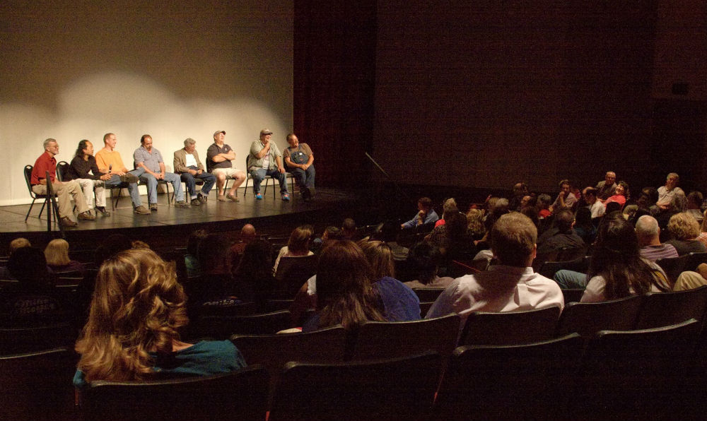 Post-screening panel discussion with local and regional sign painters