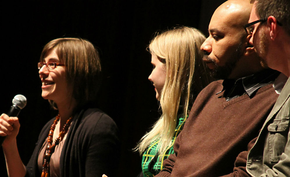 Post-screening panel discussion with director Justin Nagan (second from left)