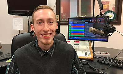 Austen Pontious broadcasting student