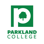 Parkland College vertical green commodities logo