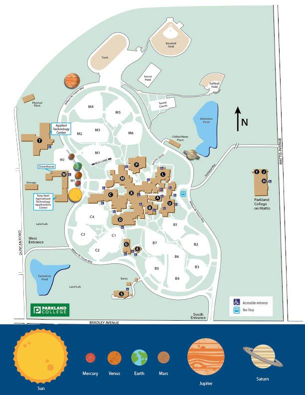 parkland college campus map Campus Solar System parkland college campus map