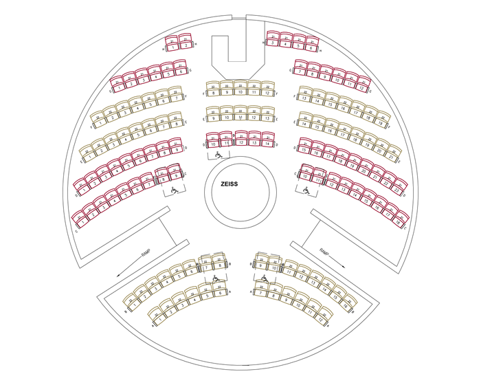 planetarium seating diagram