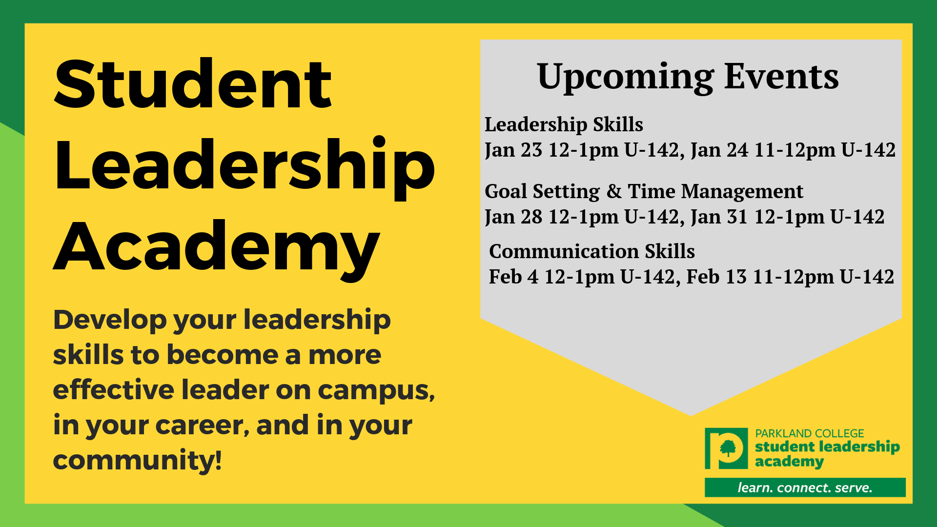 Student Leadership Academy Upcoming Events Slide (002)